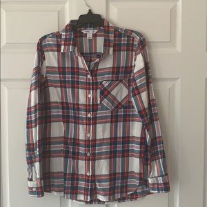 Old Navy Plaid Flannel Shirt Size Medium
